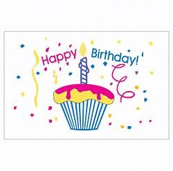 Birthday Cupcake (Clearance) - Nylon 3'x5'