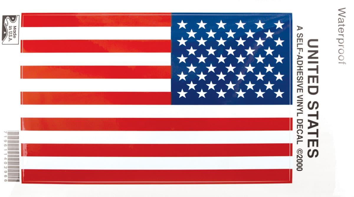US Flag Stiki-Bak Decal 1