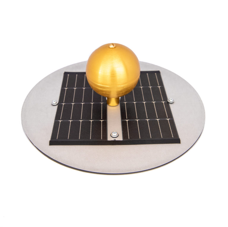 Solar Light - Top Showing Solar Panel & Ball