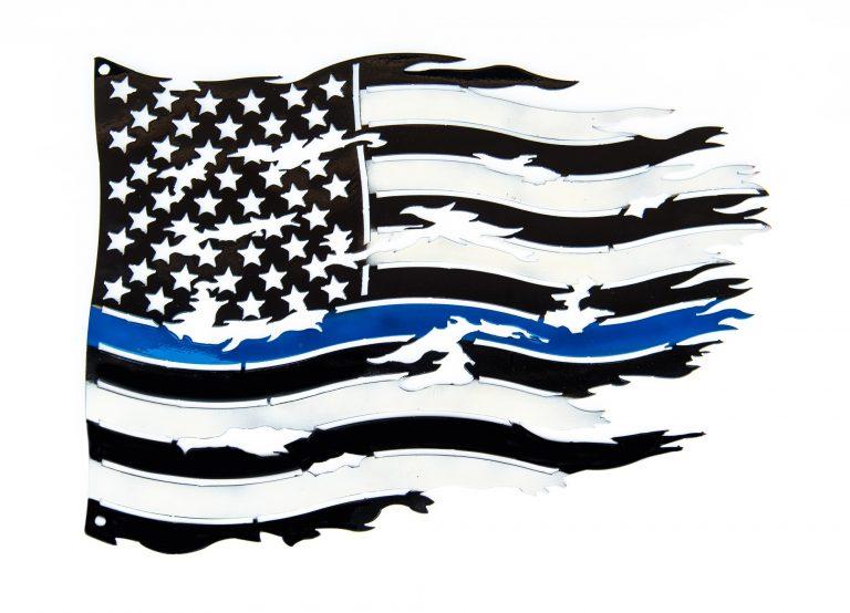 Tattered Flag - Thin Blue Line